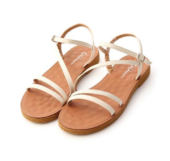 Multi Strap Sandals Cream