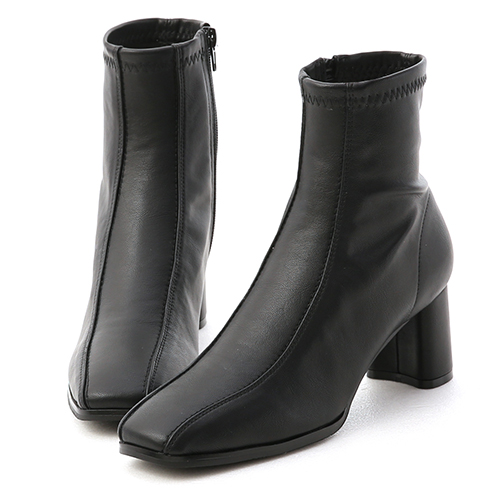 品味宣言.雙摺線設計高跟襪靴
