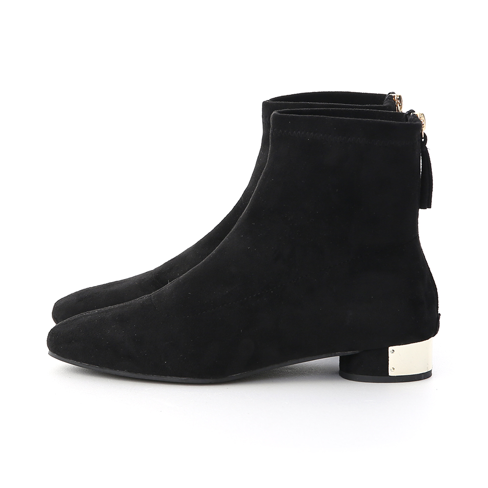 Metal Accent Sock Boots Black