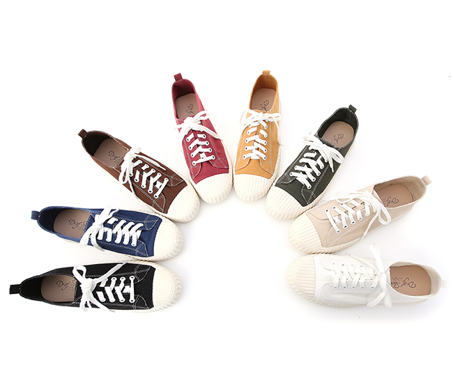 Multi-color Canvas Shoes Yellow