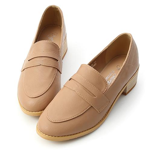 文學氣質.經典款木紋跟樂福鞋