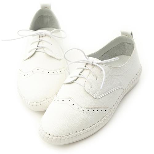 舒活印象.超軟縫線底雕花牛津鞋