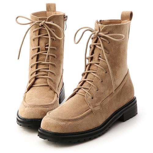 冬日戀曲.英式風格綁帶短靴