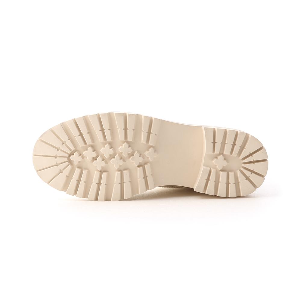 型人風格.厚底綁帶馬汀短靴 香草米