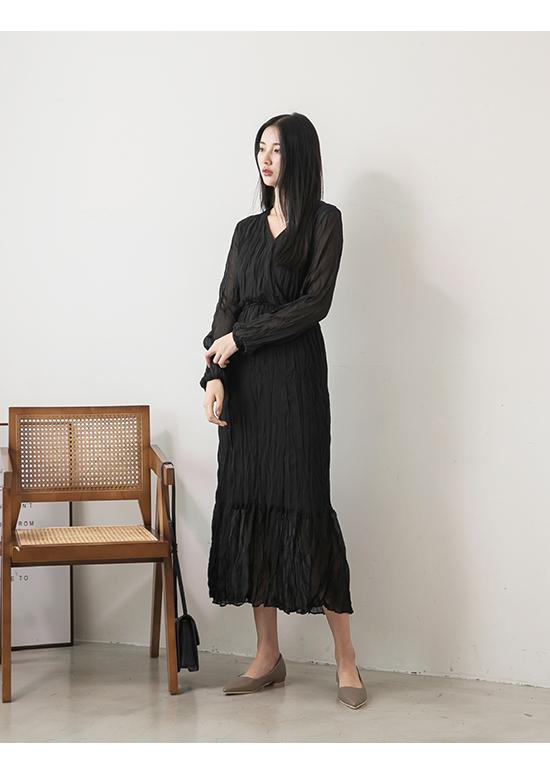 典雅氛圍.韓風素面低跟尖頭鞋 摩卡灰
