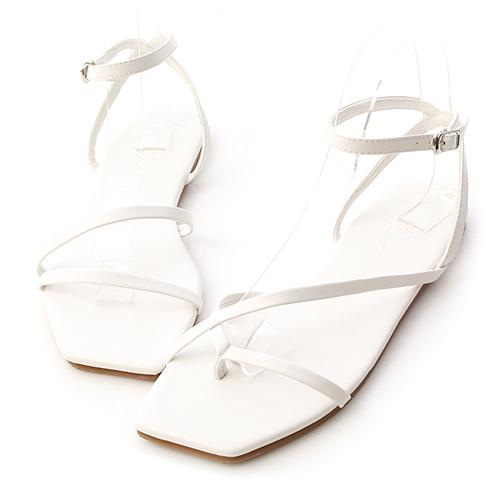 輕夏旅行.不對稱設計細帶涼鞋
