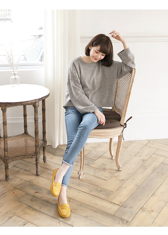 MIT Comfy Moccasins Yellow