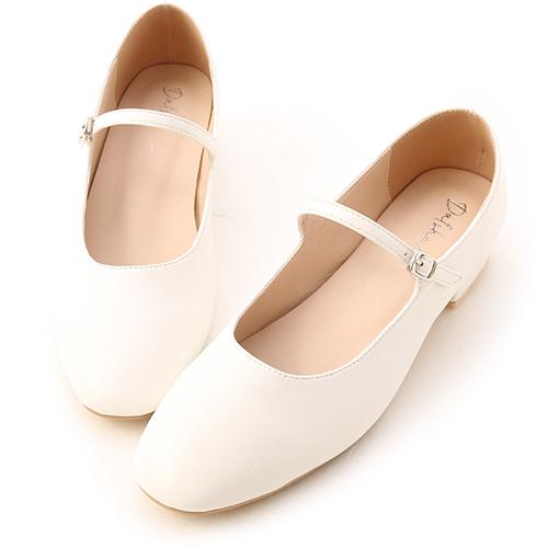 跳舞女孩.圓頭細帶低跟瑪莉珍鞋