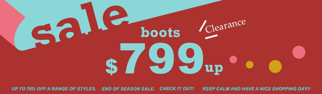 美靴均一價799up