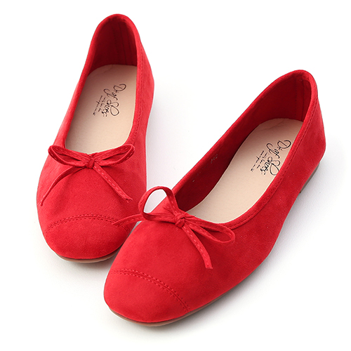 D+AF 輕快舞曲.繽紛絨料芭蕾娃娃鞋