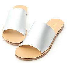 D+AF 簡約穿搭.寬版一字平底涼拖鞋