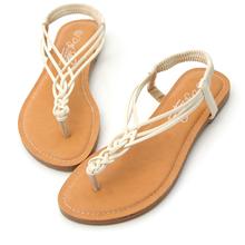 細帶交叉編織夾腳涼鞋