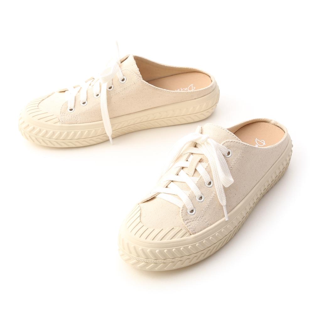 Canvas Mules Sneakers Vanilla