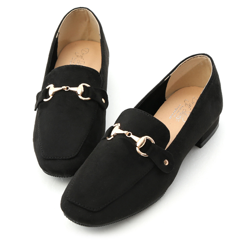 D+AF 女爵風範.銀色鎖釦顯瘦感長靴