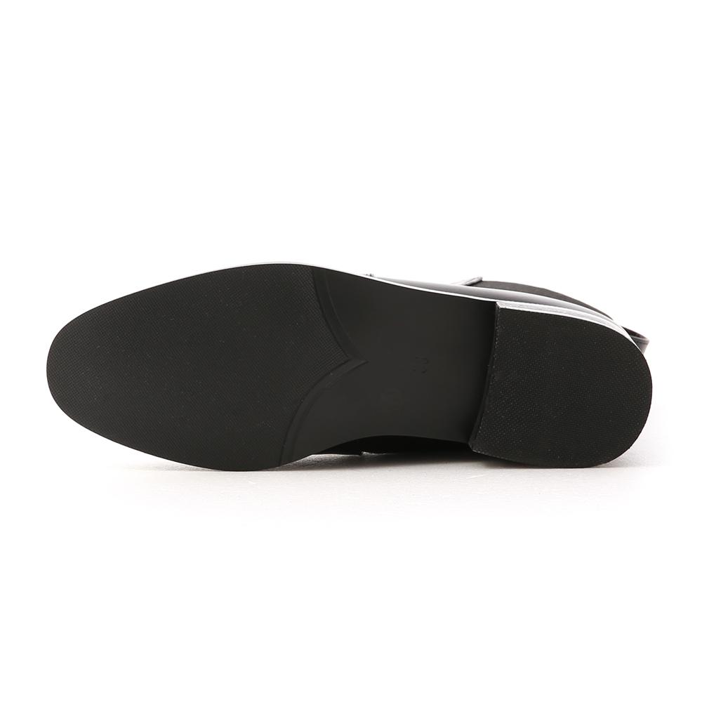 酷派率性.撞色拼接切爾西短靴 時尚黑