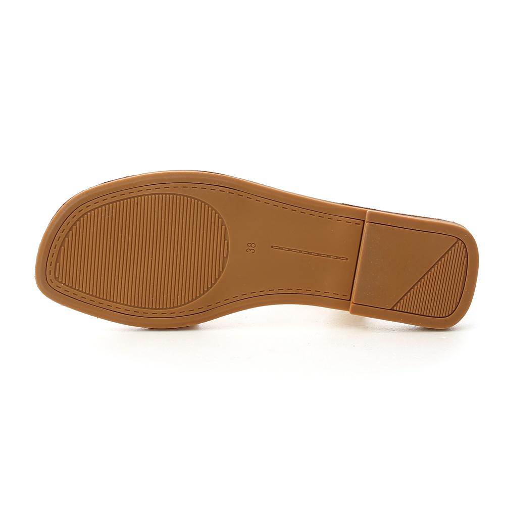 Wide Strap Flat Sandals Cream