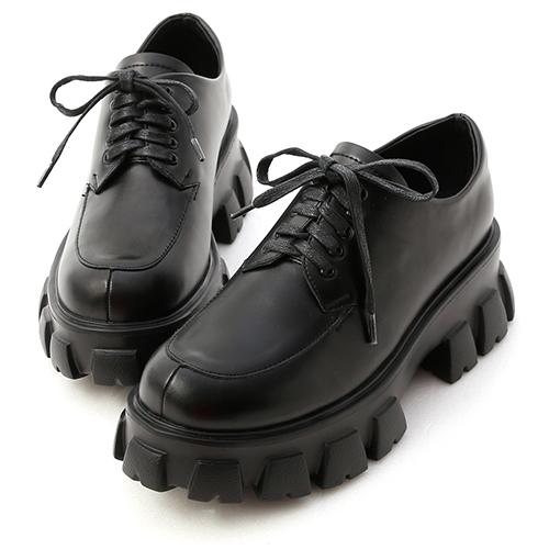 視覺焦點.輕量鋸齒底綁帶牛津鞋