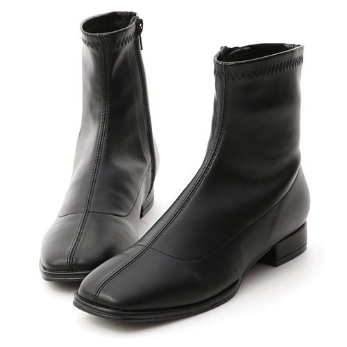時尚主義.中車線方頭低跟襪靴