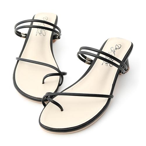 清新夏氛.交叉套指2way圓跟涼鞋
