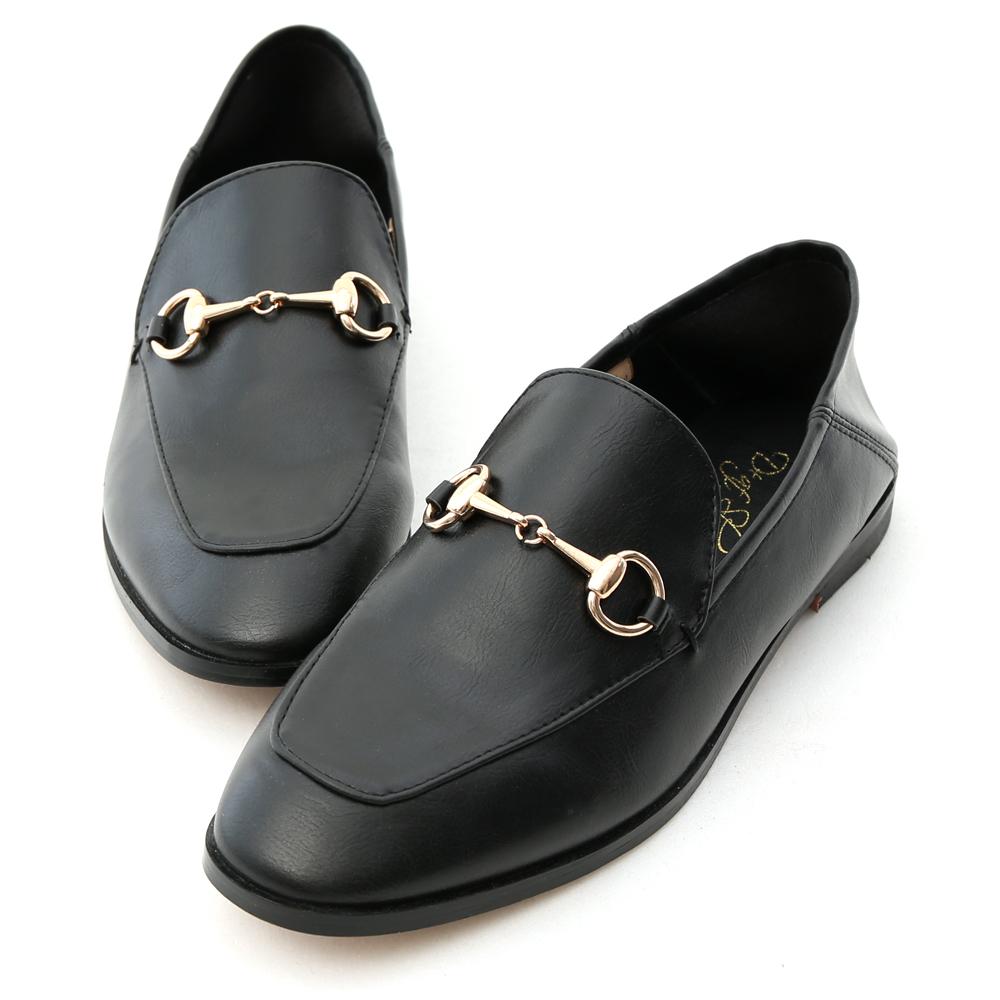 D+AF 上質品味.馬銜釦後踩式二穿紳士便鞋