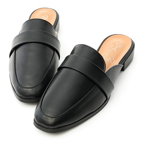 質感生活.簡約設計方頭穆勒鞋