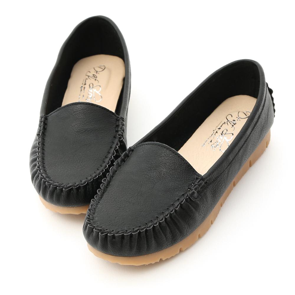 舒服好穿.MIT素面莫卡辛健走鞋 時尚黑