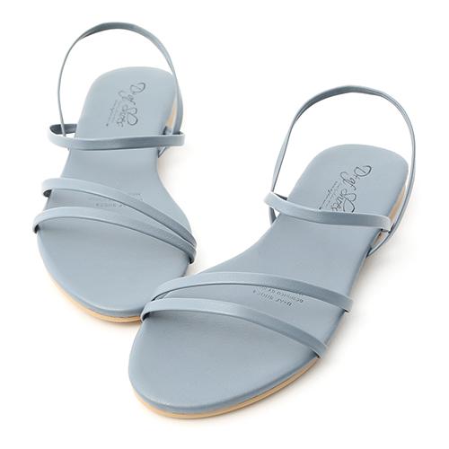 D+AF 夏氛首選.精緻細帶平底涼鞋