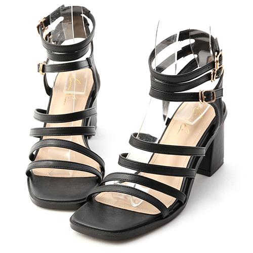 希臘女神.多層次環釦羅馬涼鞋
