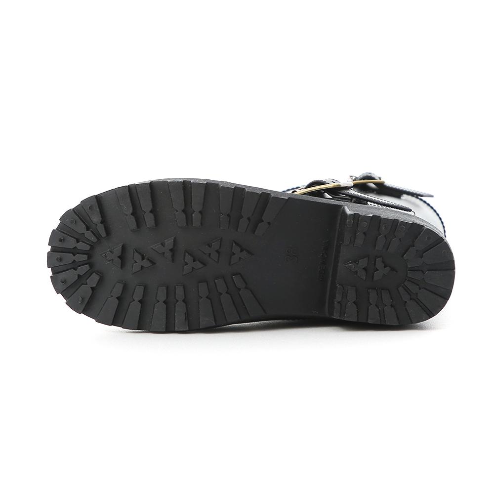 率性風格.金屬側釦環中筒雨靴 時尚黑