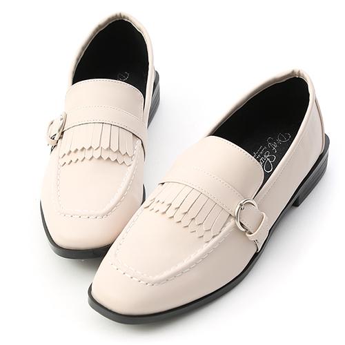 知性英倫.雙層流蘇紳士樂福鞋