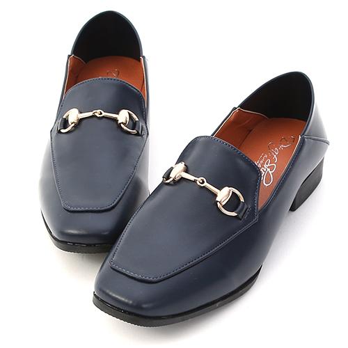 紳士嚴選.馬銜釦可後踩平底樂福鞋