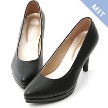 D+AF 美腿比例.MIT素面尖頭8cm高跟鞋