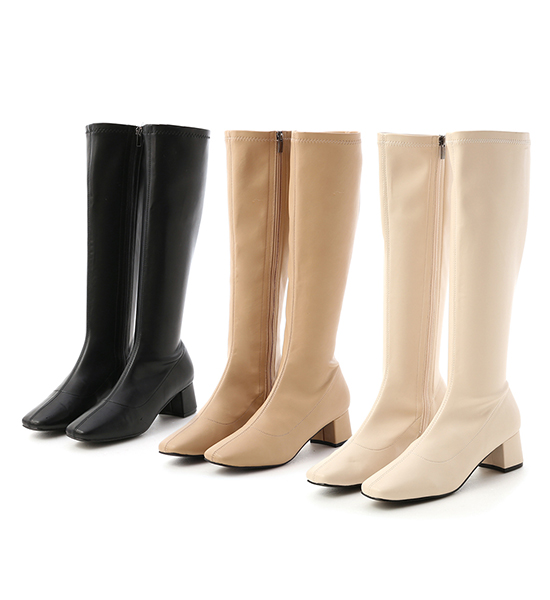 Classic Fitting High Boots Beige