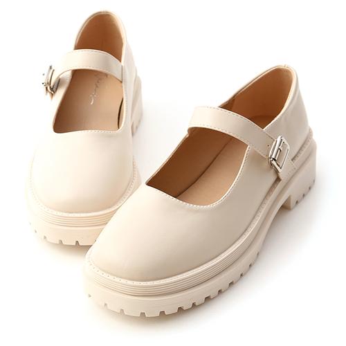個性派女孩.圓頭鬆糕底瑪莉珍鞋