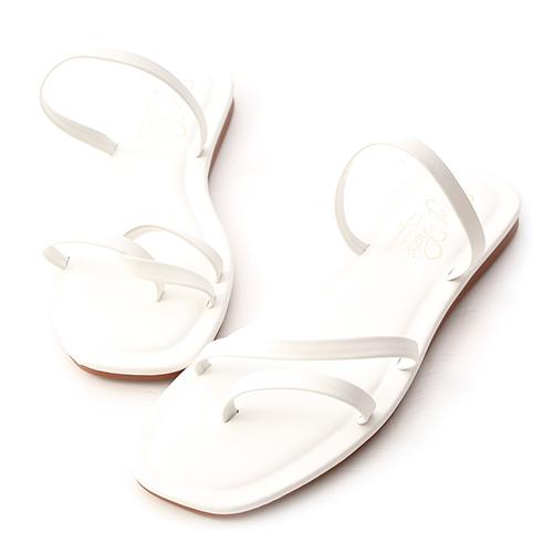獨特夏氛.不對稱設計平底涼鞋