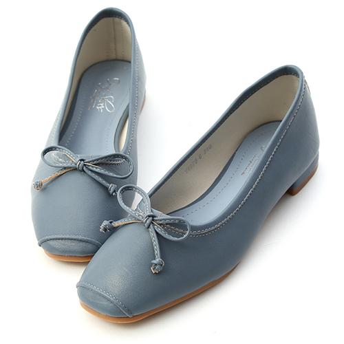 D+AF 優雅甜心.方頭低跟芭蕾娃娃鞋
