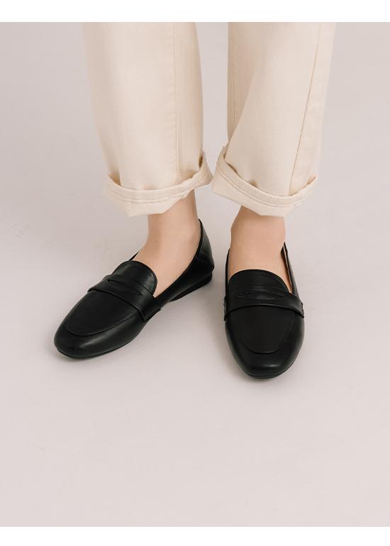 舒服日常.超軟Q經典款樂福鞋 時尚黑