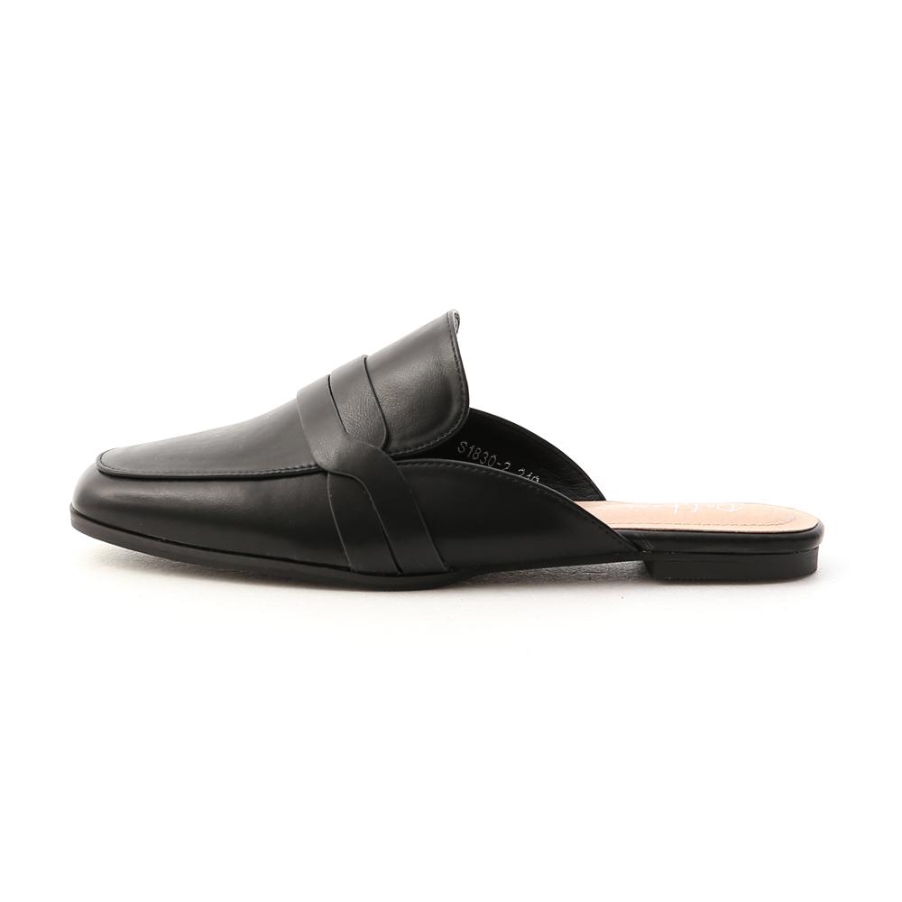 Casual Flat Mules Black