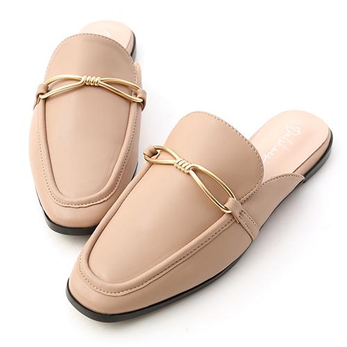 夢想空間.細緻金屬扭結穆勒鞋