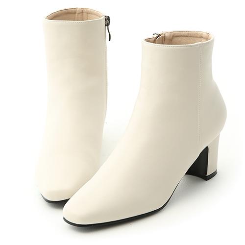 D+AF 極簡潮流.素面方頭美型中跟短靴