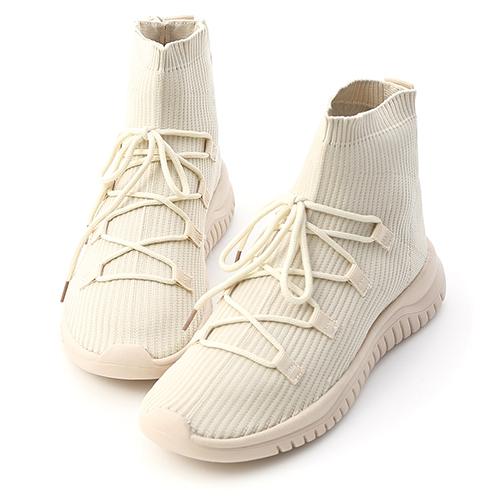 D+AF 歐美街拍.彈力針織運動風襪靴