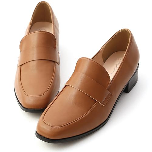 簡單格調.經典款低跟樂福鞋