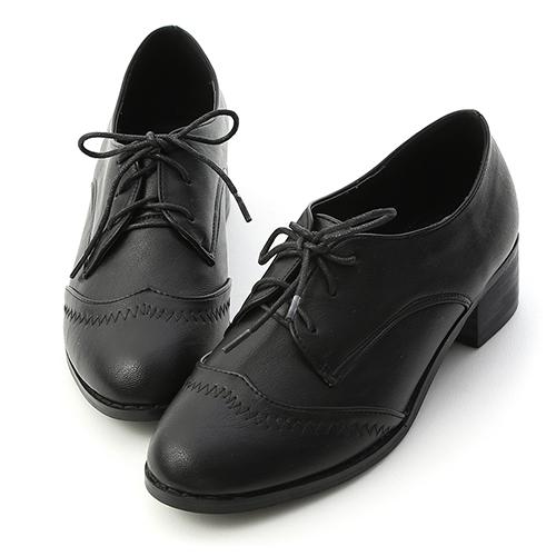 學院風格.拷克車線綁帶牛津鞋