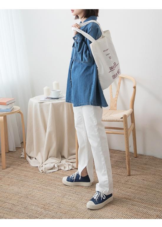玩色趣味.多色帆布休閒餅乾鞋 英國藍