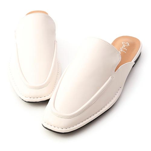極簡風格.立體車線平底穆勒鞋