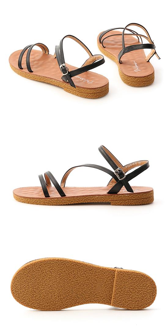 Multi Strap Sandals Black