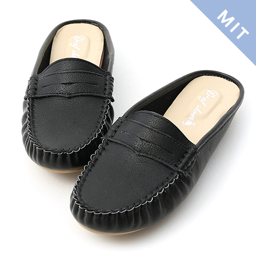 D+AF 舒適假期.MIT經典款豆豆穆勒鞋