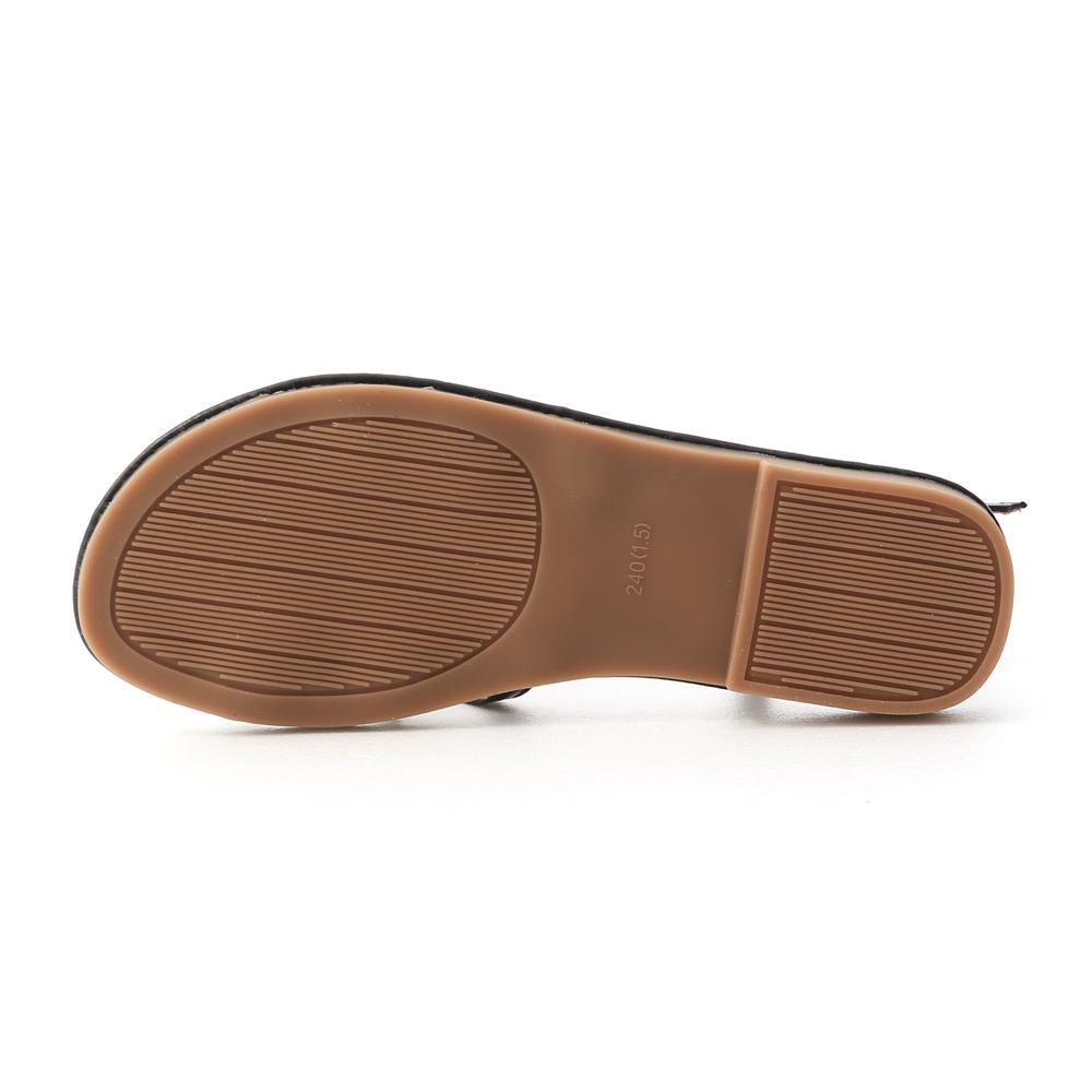 嗨啾軟糖.雙層交叉軟Q底涼鞋 時尚黑