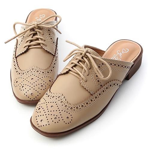 D+AF 英倫日常.復古雕花牛津穆勒鞋