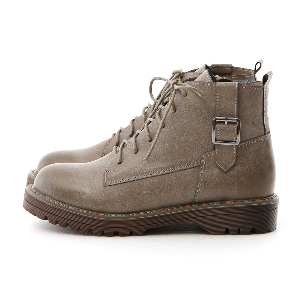 Retro Lace-up Martin Boots Grey